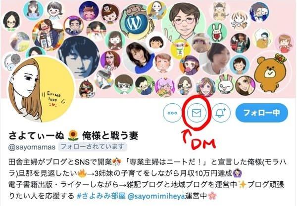 TwitterDMマーク